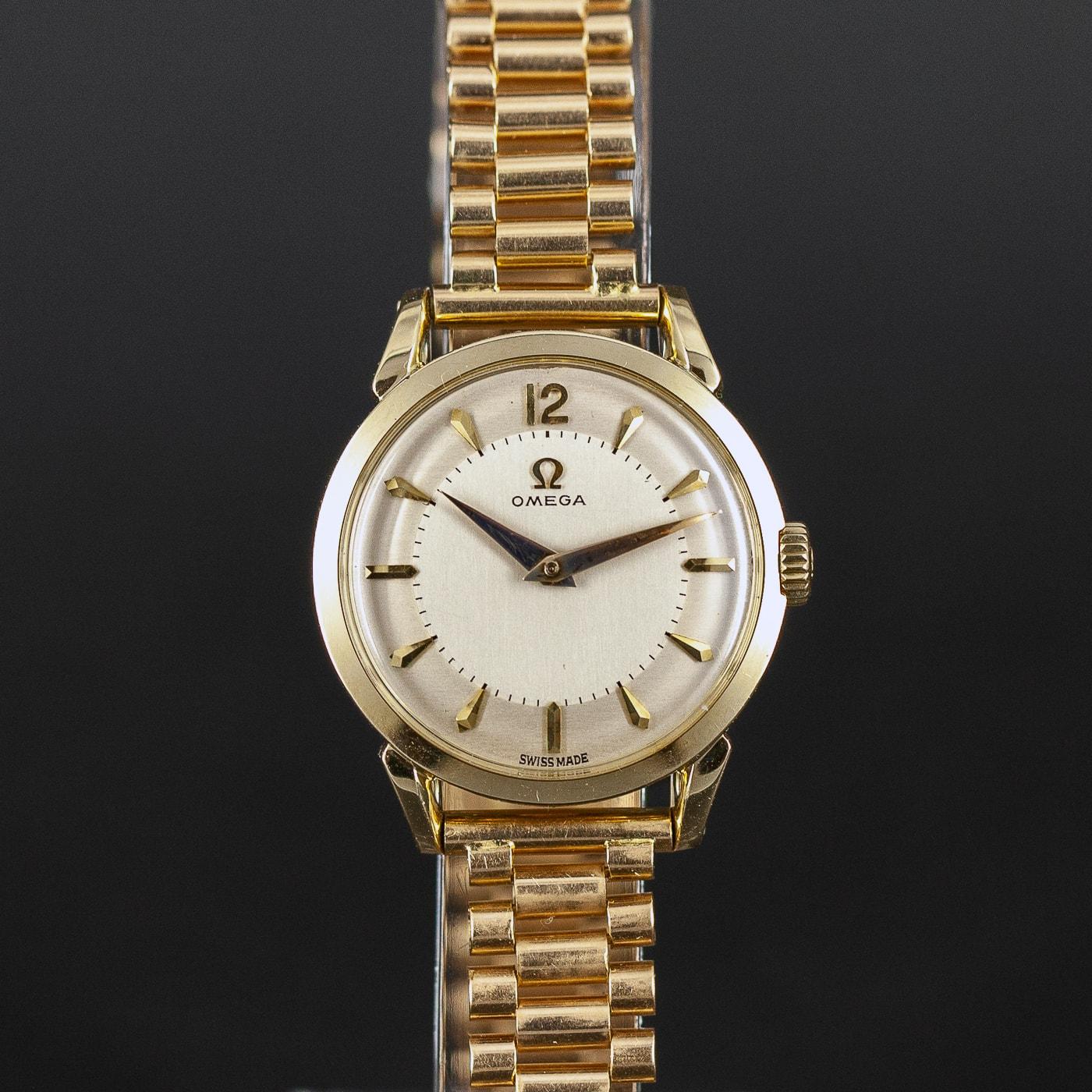 14k Omega ref. 2524 naisten rannekello vuodelta 1956 - Longitudi 7e1dc97ae3
